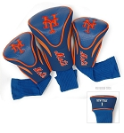 New York Mets MLB Set Of 3 Contour Head Covers Golf Gift